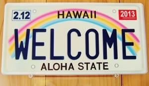 ハワイ・ナンバープレート型